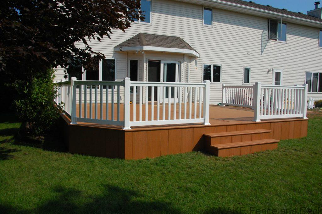 Azek Cypress decking with white vinyl railing