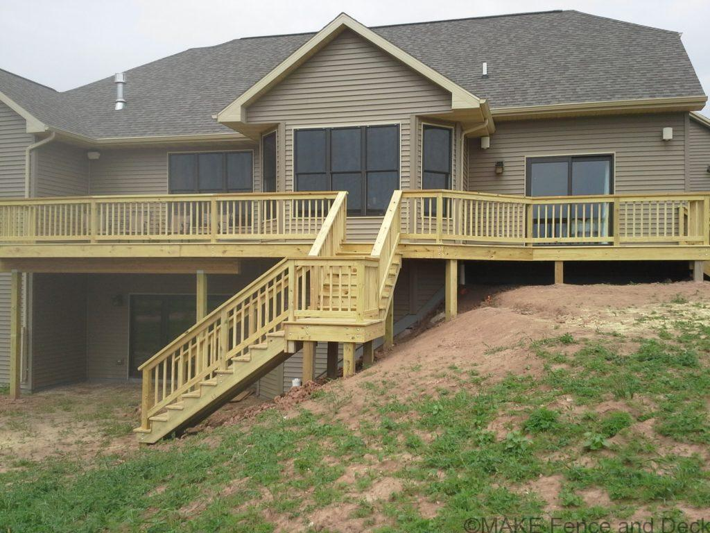 Green treated decking and railing