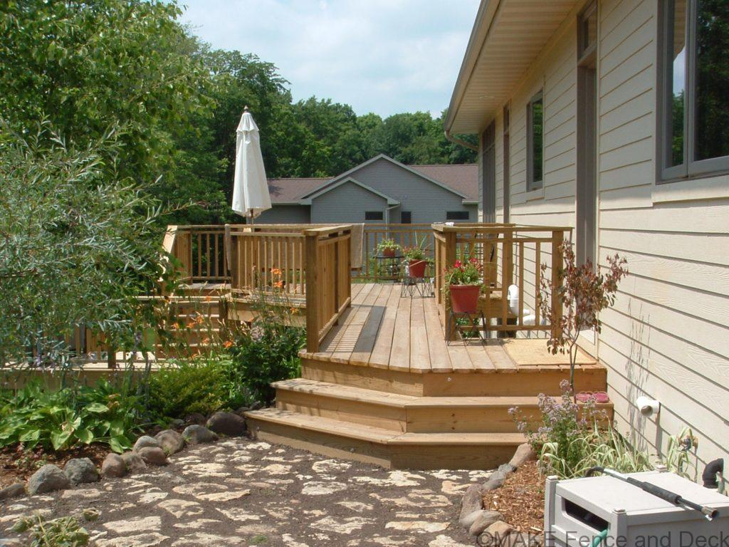Cedar decking and railing
