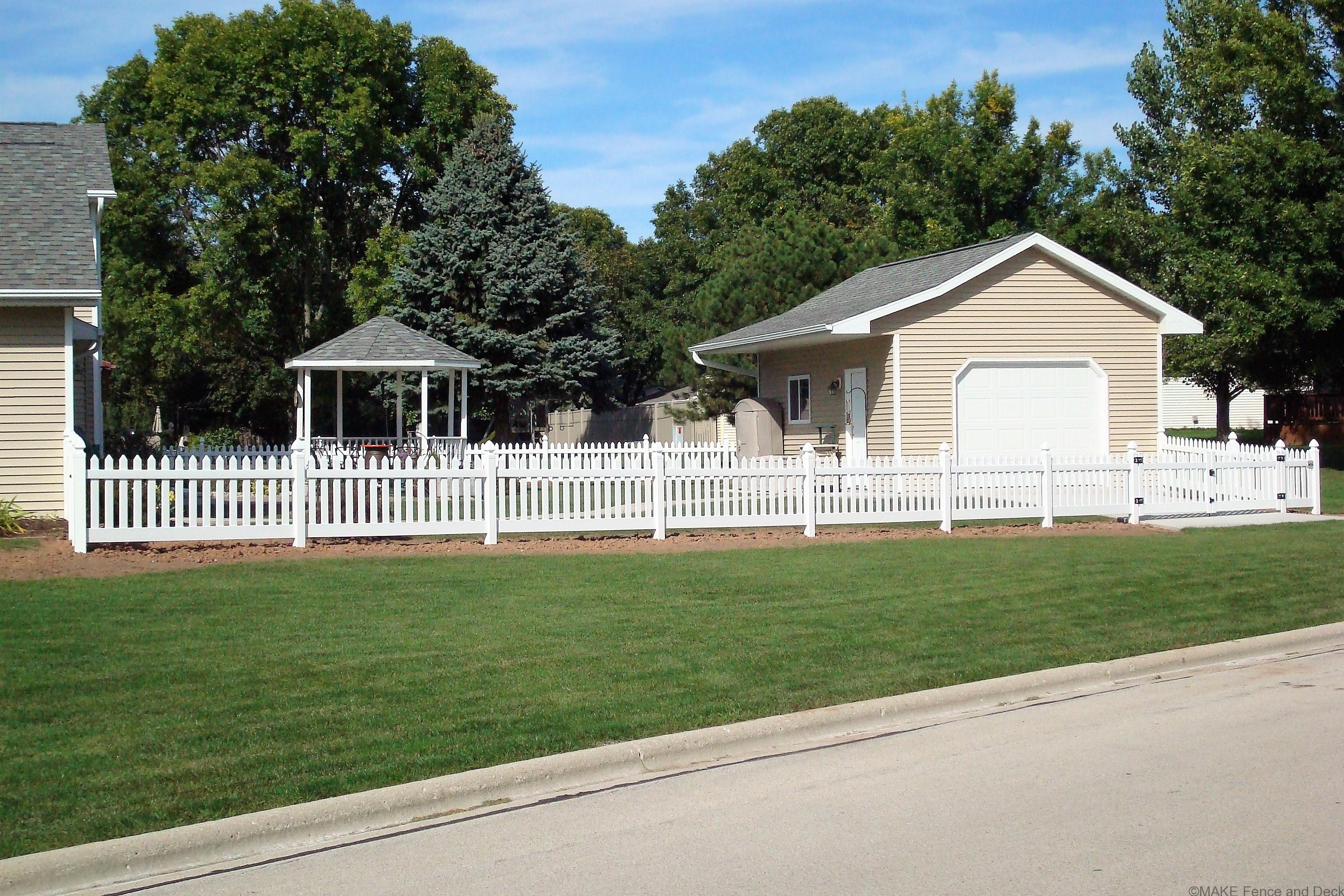 picket fence double gate. White Vinyl Picket Fence Bridgeport With Double Gate 42\u201d Tall S