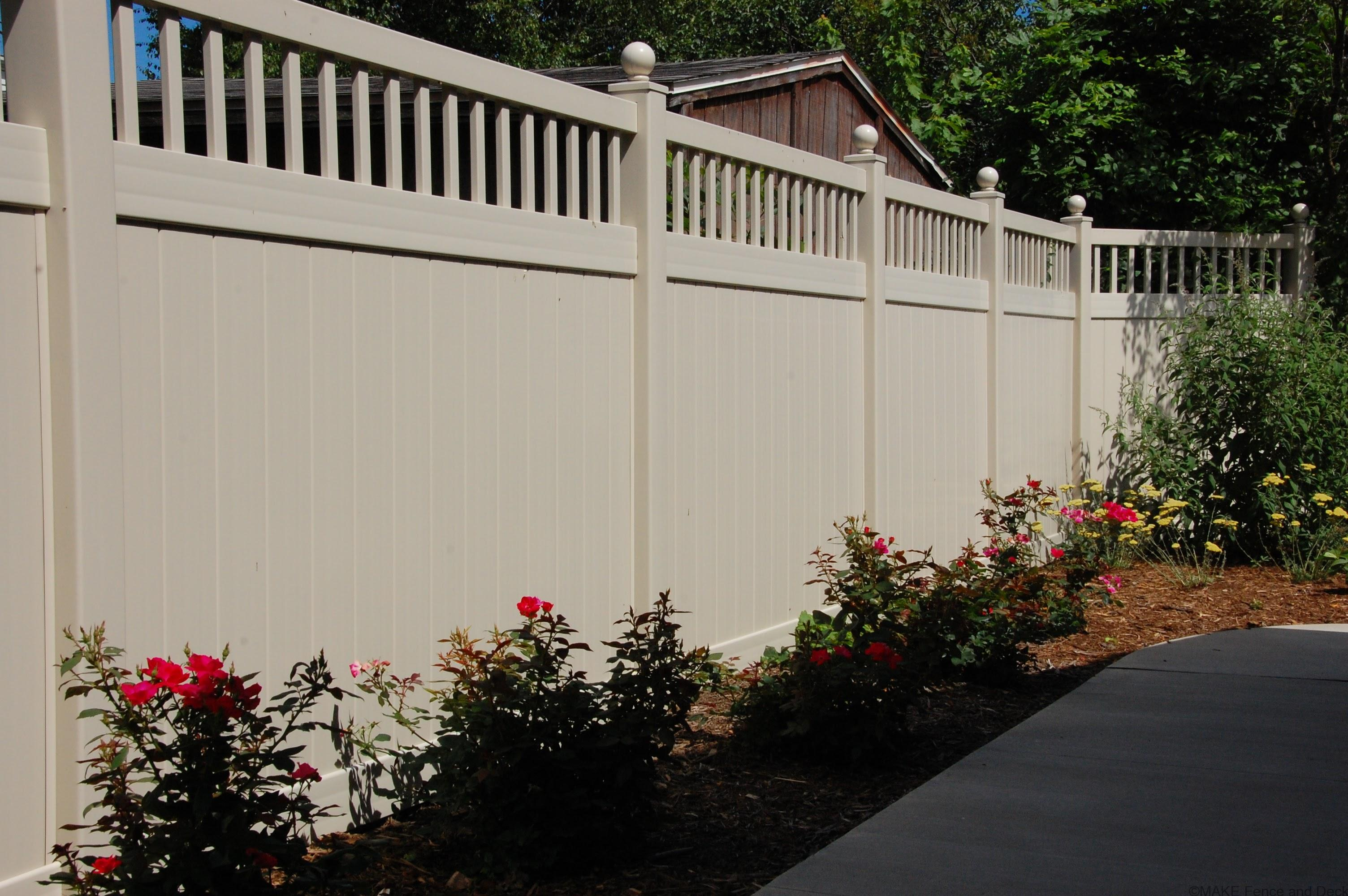 Attractive affordable fencing ideas ensign electrical for Cheap tall privacy fence