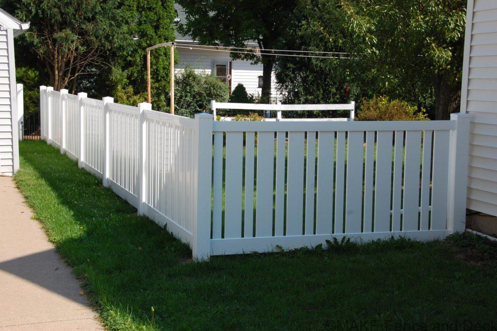 vinyl semi privacy fence Charlestown 4' tall white Charlestown fence
